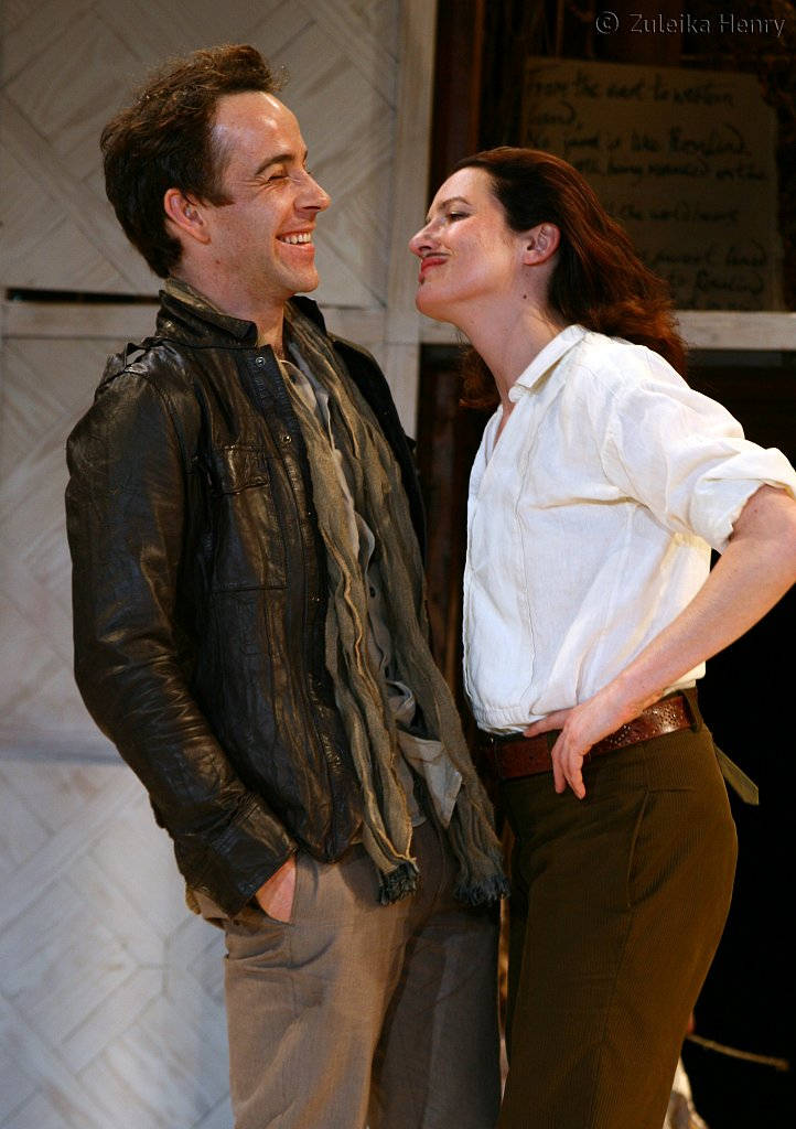 Katy Stephens as Rosalind and Jonjo O'Neil as Orlando