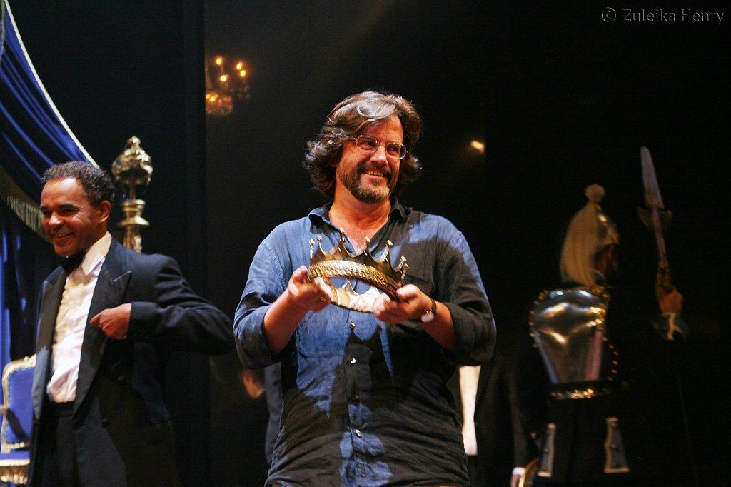 Gregory Doran director with Peter de Jersey