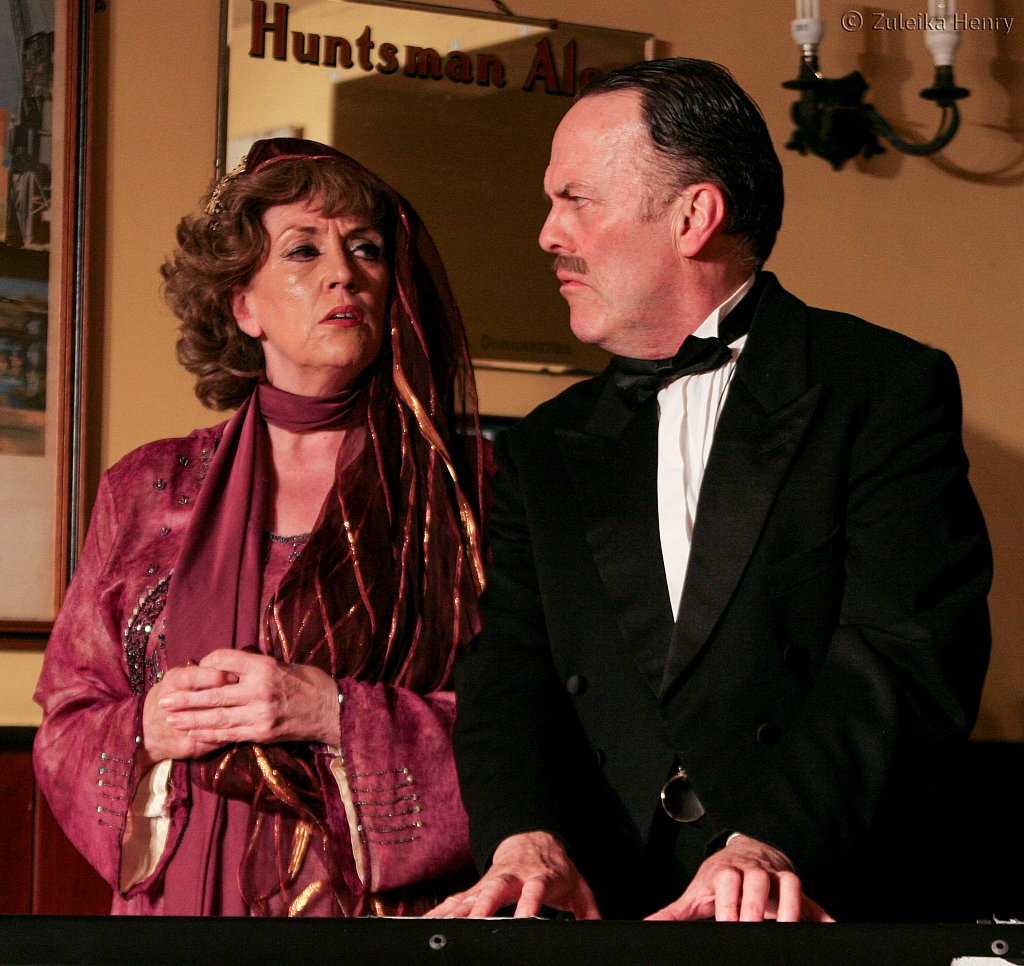 John Telfer and Kate McNab in Fanny and Johnnie Cradock Cook The Great American Songbook by Sheila Hannon
