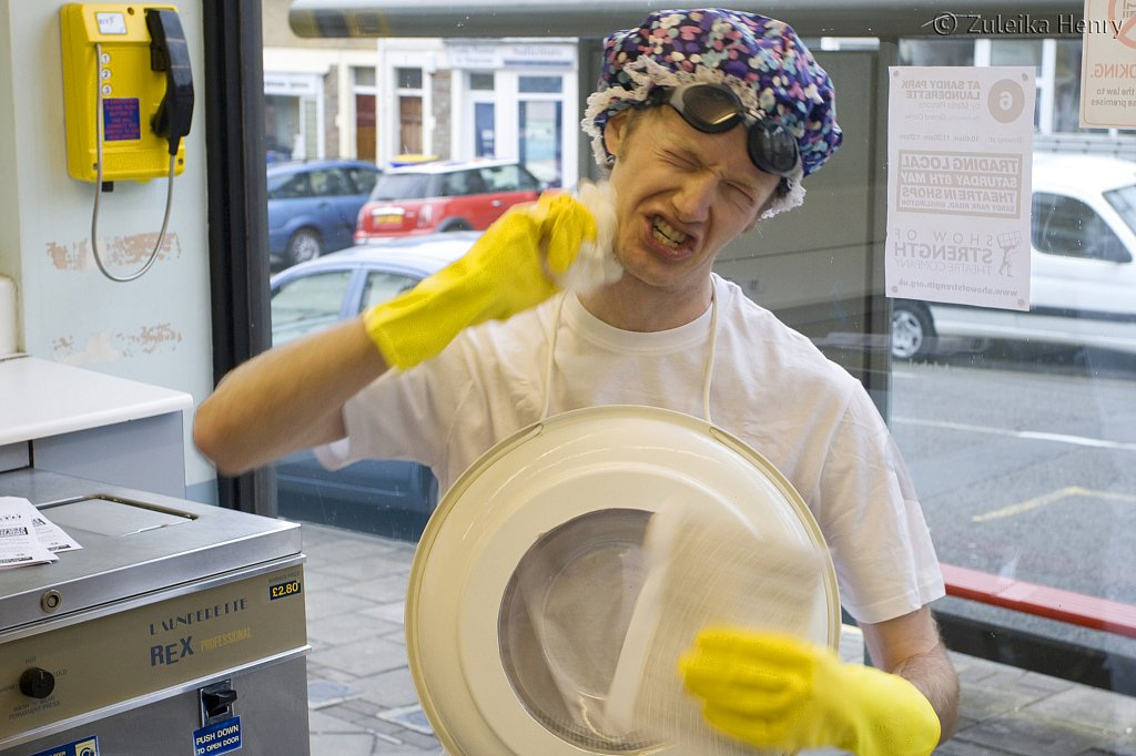Gerard Cooke in At Sandy Park Laundrette by Martin Parsons