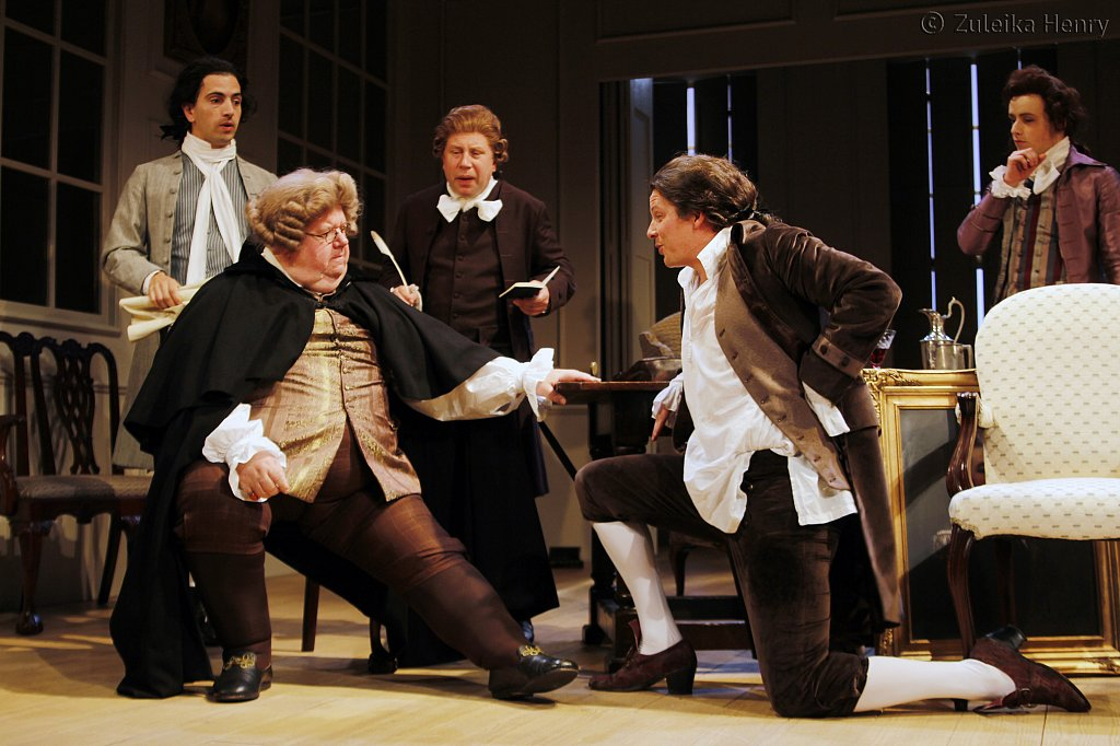 Ian McNiece as Sir Oliver Surface and  Nigel Harman as Charles Surface