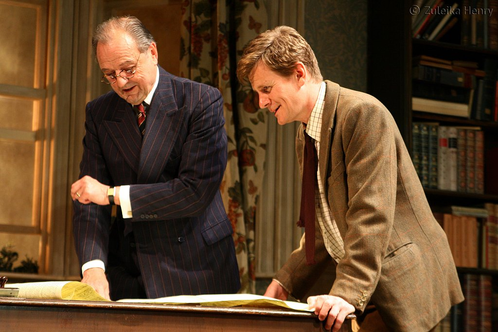 Peter Bowles as Andrew Crocker-Harris and Charles Edwards as Frank Hunter