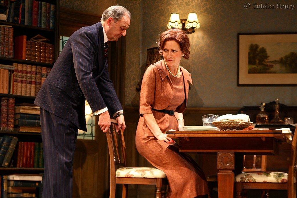 Peter Bowles as Andrew Crocker-Harris and Candida Gubbins as Millie Crocker-Harris