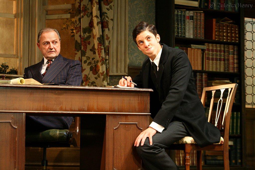 Peter Bowles as Andrew Crocker-Harris and James Musgrove as Taplow