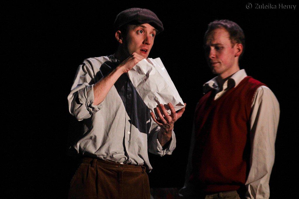 Nik howden as Pat and Joe Johnson as John