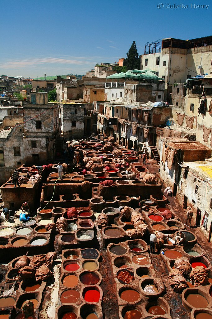 At the tannery in Fez