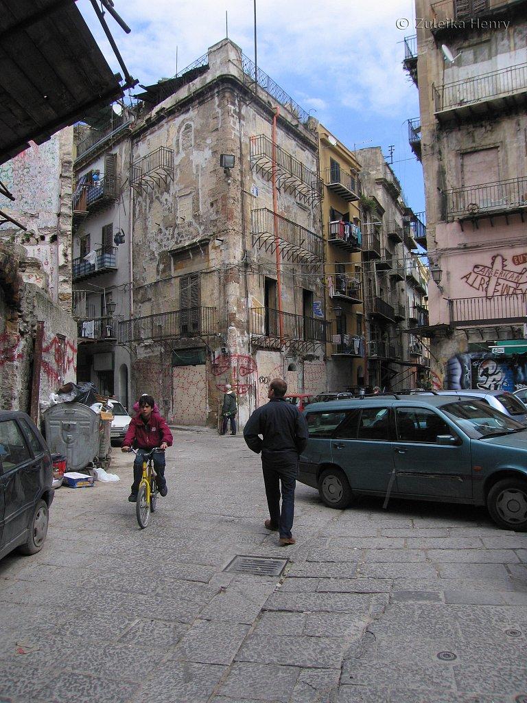 A devastated city