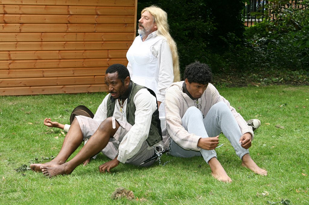 Andrew Francis, Emile Clark, Paul Maddaford and Simon Armstrong in Black Slaves, White Chains by Mustapha Matura