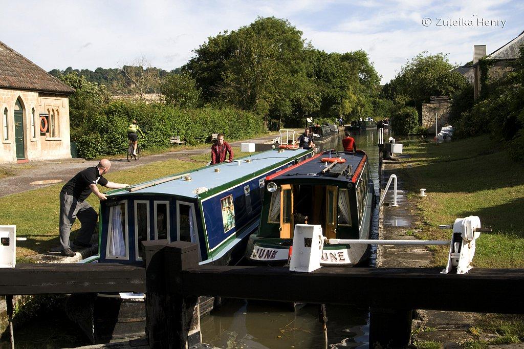 Kennet and Avon Canal, Bath flight of locks