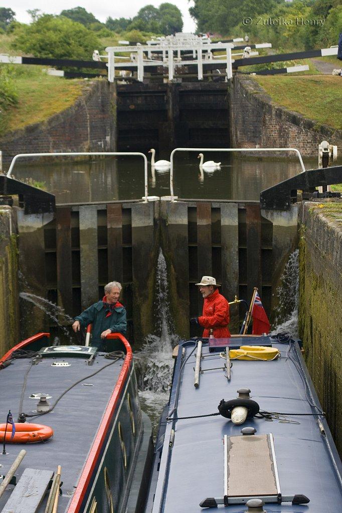 Caen Hill Lock flight Kennet and Avon Canal nr Devises Wiltshire
