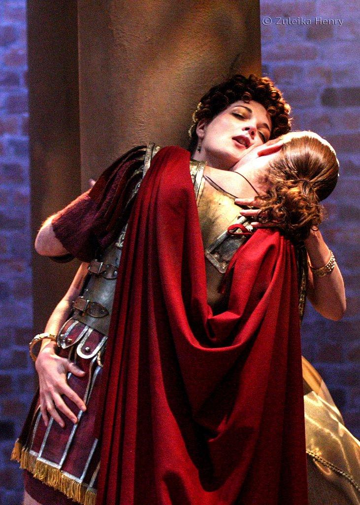 Miranda Colchester as Livia and William Houston as Sejanus