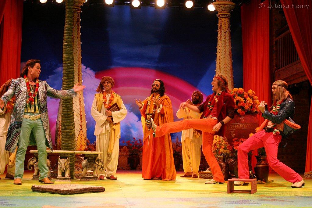 Hank Stratton as Berowne, Amir Arison as King Ferdinand of Navarre Erik Steele as Longeville and Aubrey Deeker as Dumaine