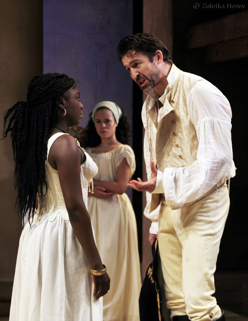 Jonathan Cake as Antony and Joaquina Kalukango as Cleopatra