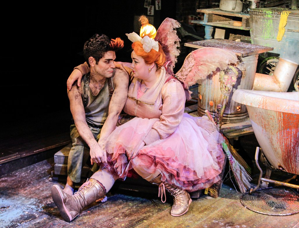 Sam Swann as Peter Pan and Charlotte Mills as Tink