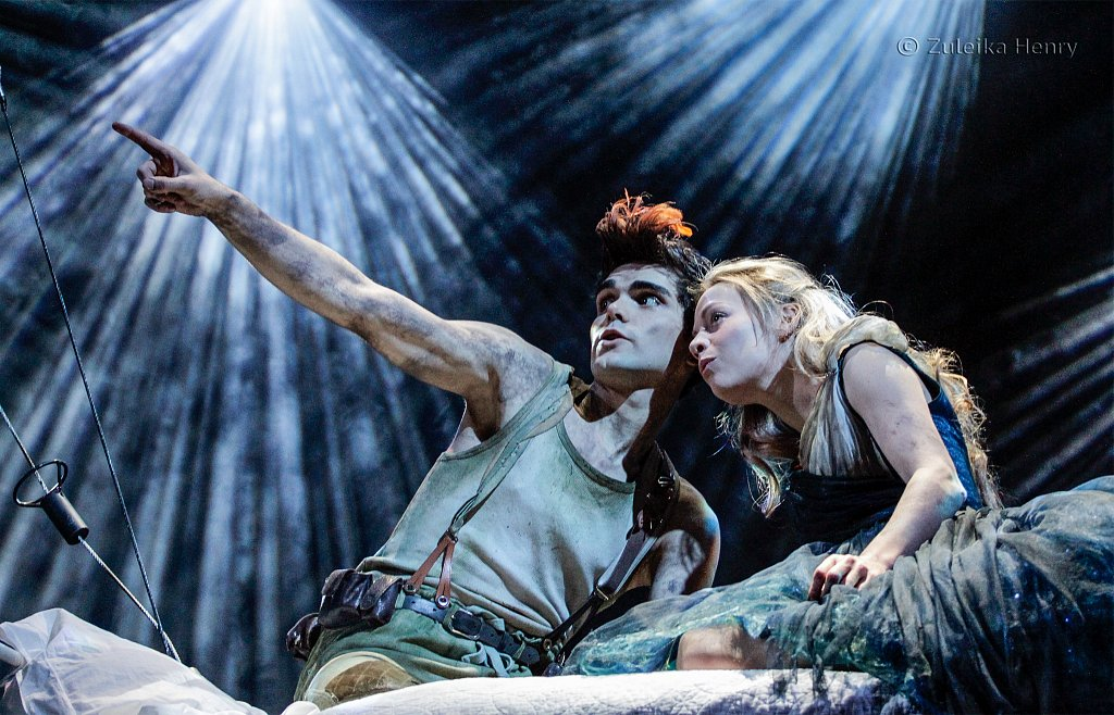 Sam Swann as Peter Pan and Fiona Button as Wendy