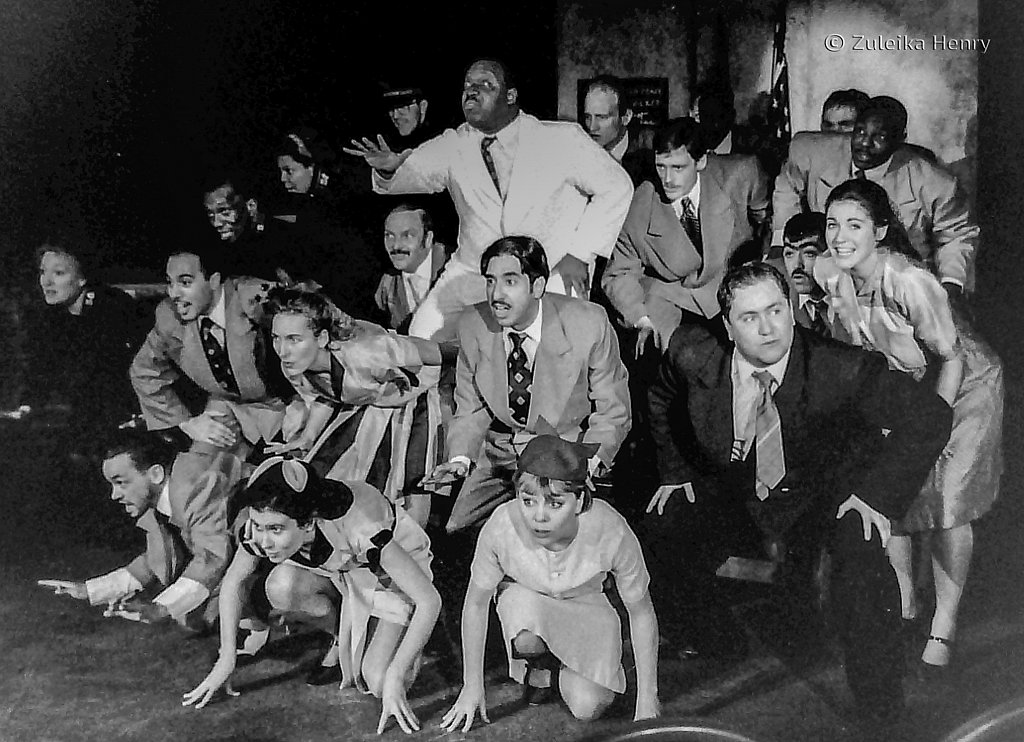 The company of Pimlico Opera and staff and inmates of Wandsworth Prison perform Guys and Dolls in 1993
