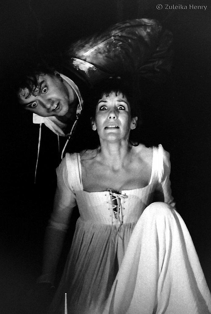 The White Devil 1996 Richard McCabe as Flamineo and Jane Gurnett as Vittoria