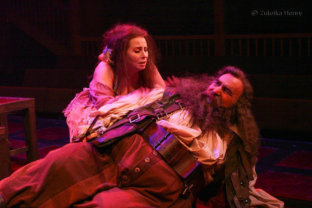 Susan Hart as Doll Tearsheet and Greg Vinkler as Falstaff