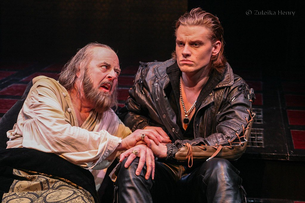 David Lively as King Henry and Jeffrey Carlson as Prince Hal