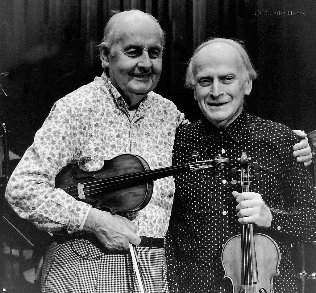 Stephane Grappelli and Yehudi Menuhin 1988