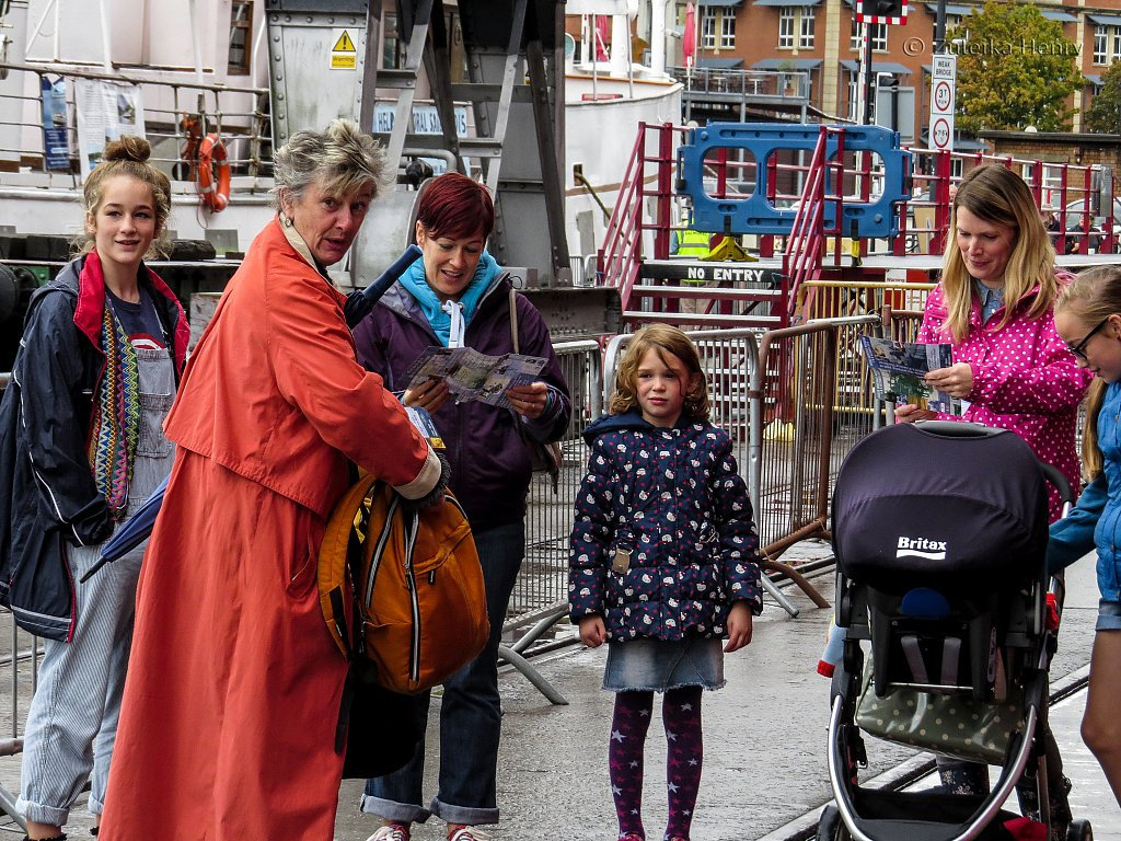 Heritage weekend at Bristol Docks Oct 4/5 2014, Sheila Hannon drums up trade