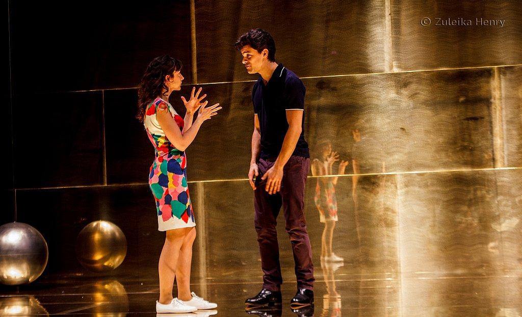 Patsy Ferran as Portia and Jacob Fortune-Lloyd as Bassanio