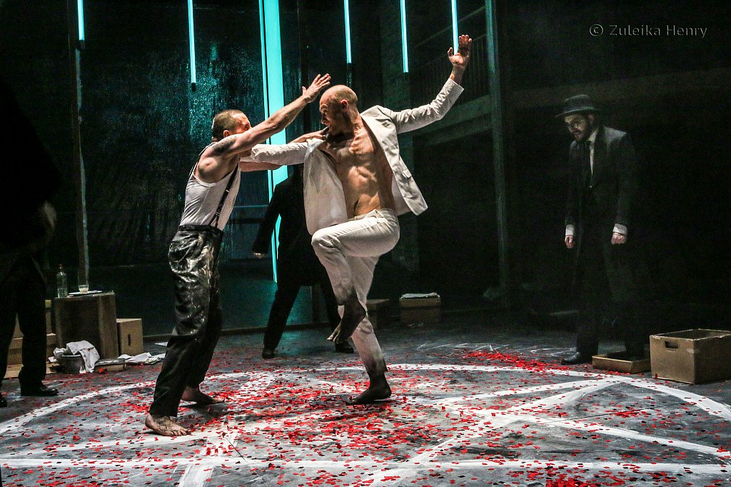 Sandy Grierson as Mephtophilis and Oliver Ryan as Doctor Faustus