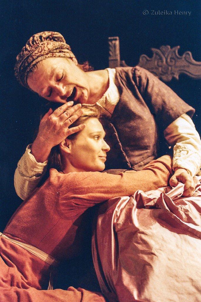 Sian Brooke as Juliet and June Watson as Nurse