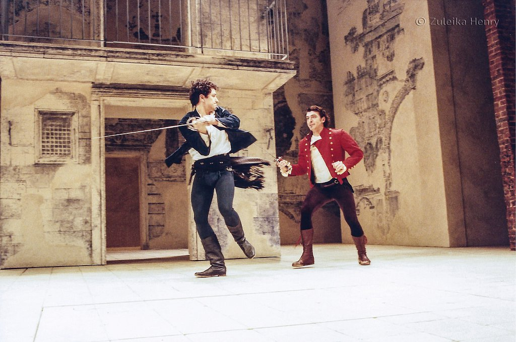Matthew Rhys as Romeo and Tam Mutu as Tybalt
