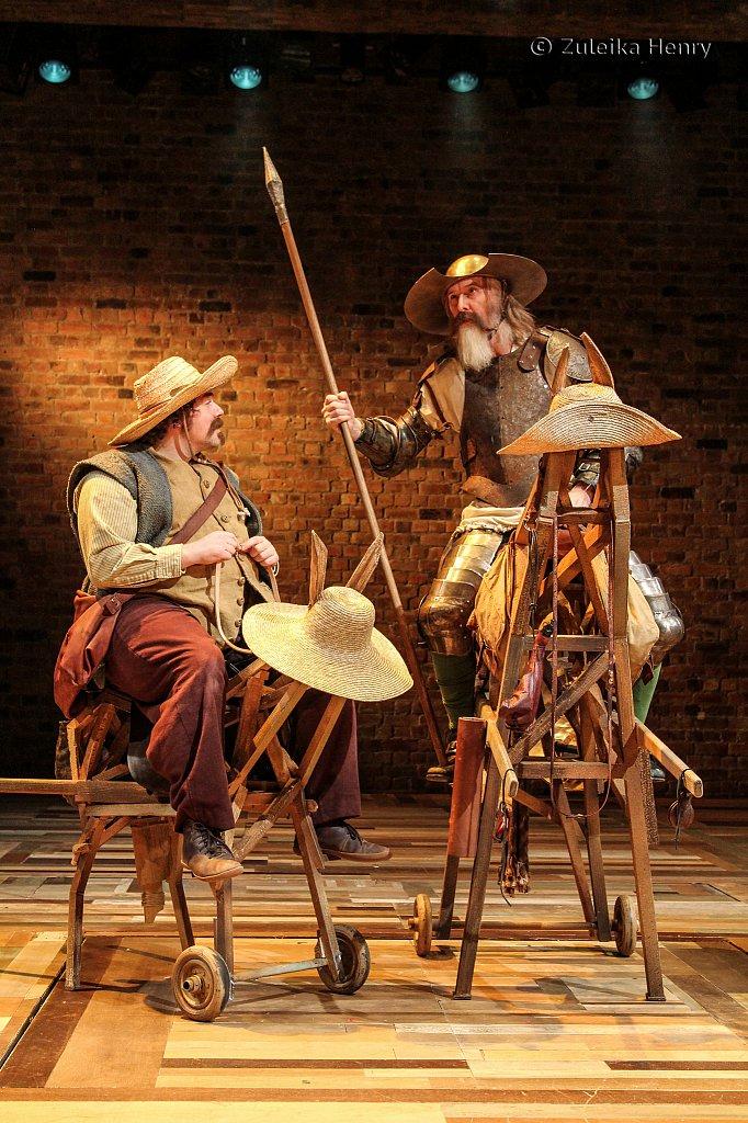 Rufus Hound as Sancho Panza and David Threlfall as Don Quixote