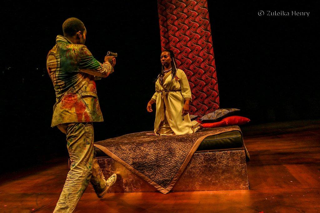 Tanya Moodie as Gertrude and Paapa Essiedu as Hamlet