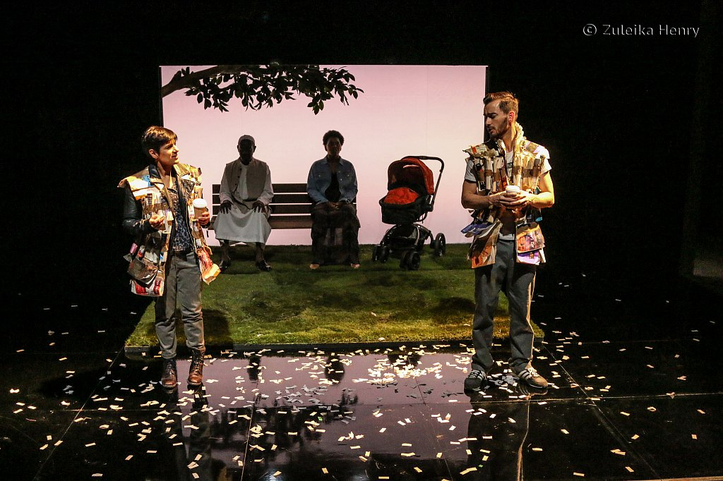 Syreeta Kumar and Ifan Meredith with Tyrone Huggins and Donna Banya in Always Orange by Fraser Grace