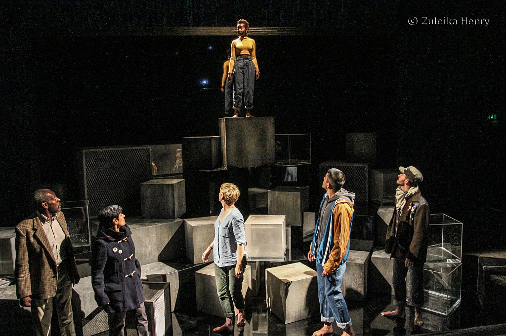 Donna Banya, Tyrone Huggins, Syreeta Kumar, Laura Howard,Bally Gill and Ifan Meredith in Fall of the Kingdom, Rise of the Footsoldier by Somalia Seaton