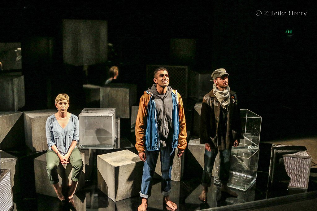Laura Howard, Bally Gill and Ifan Meredith in Fall of the Kingdom, Rise of the Footsoldier by Somalia Seaton