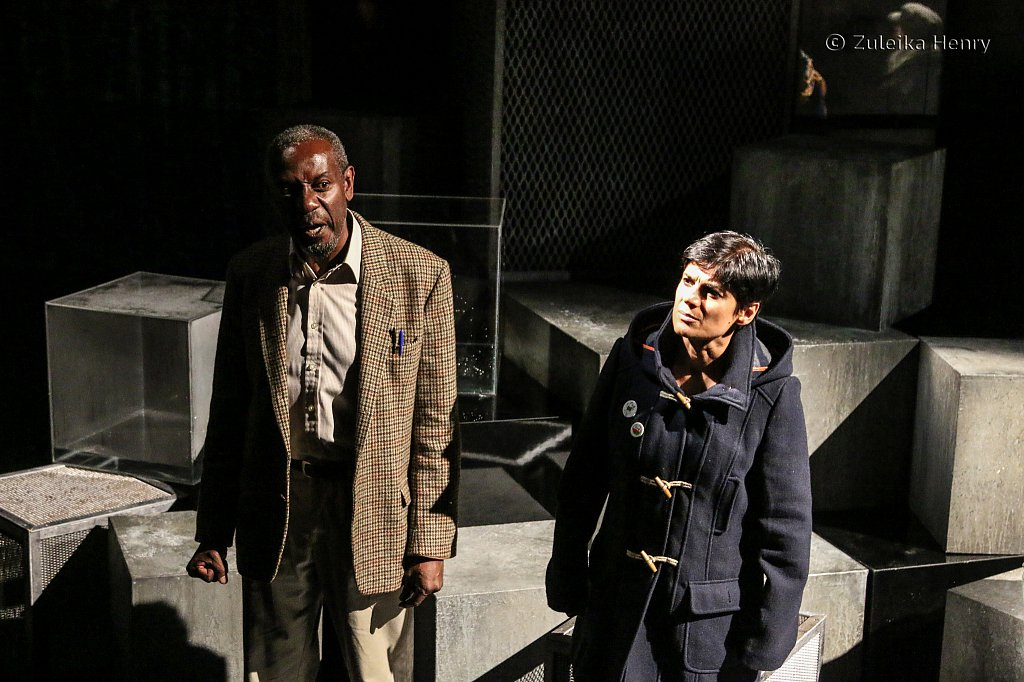 Tyrone Huggins and Syreeta Kumar in Fall of the Kingdom, Rise of the Footsoldier by Somalia Seaton