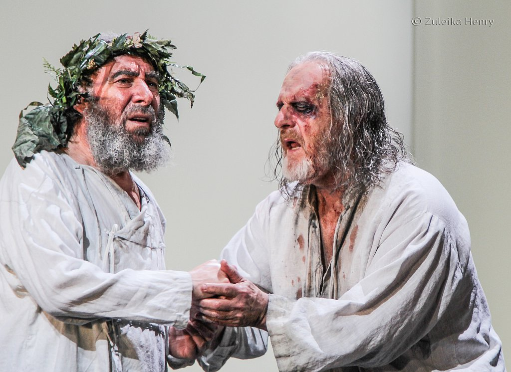 Antony Sher as Lear and David Troughton as Gloucester