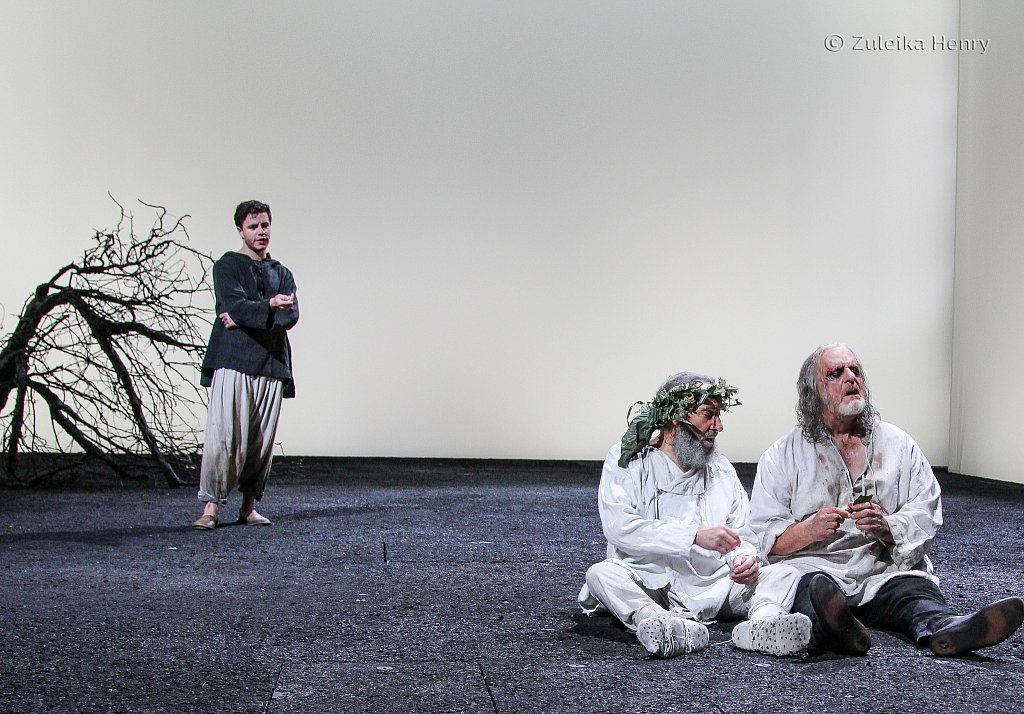Antony Sher as Lear, Oliver Johnstone as Edgar and David Troughton as Gloucester
