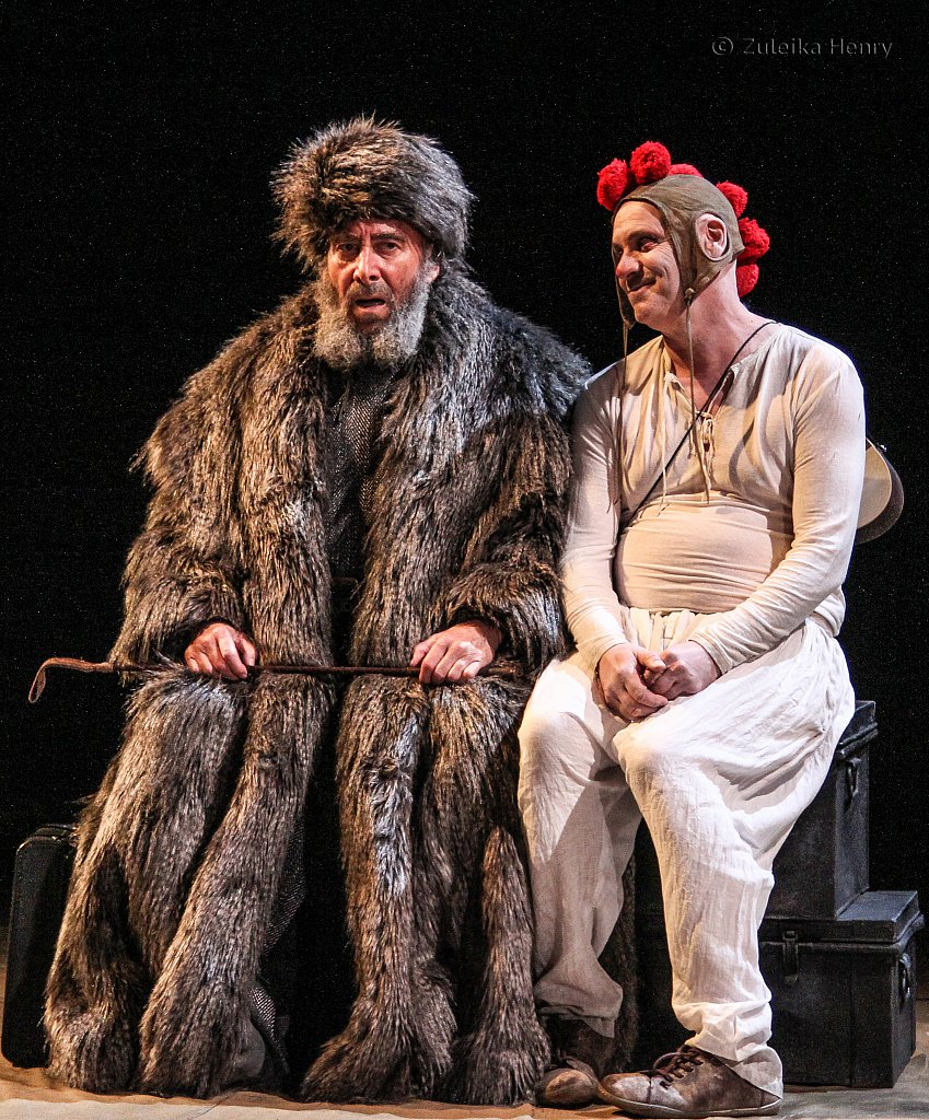 Antony Sher as Lear and Graham Turner as Fool