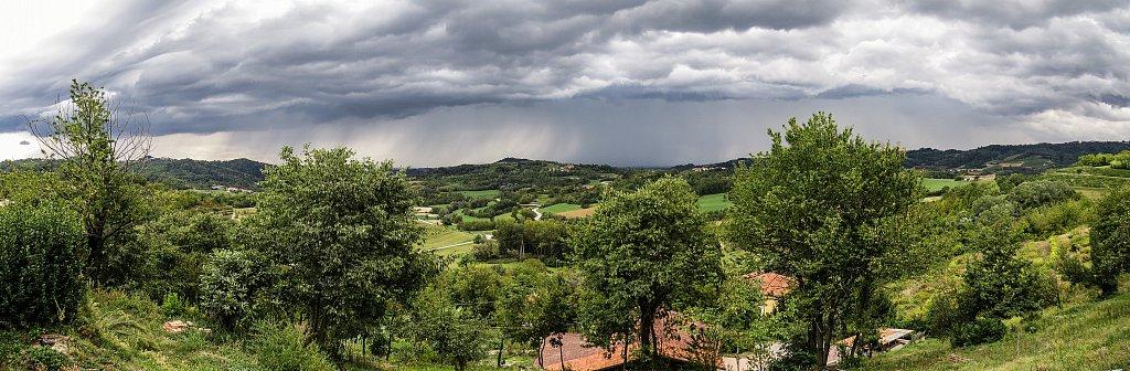 View over Aramengo, Piedmonte