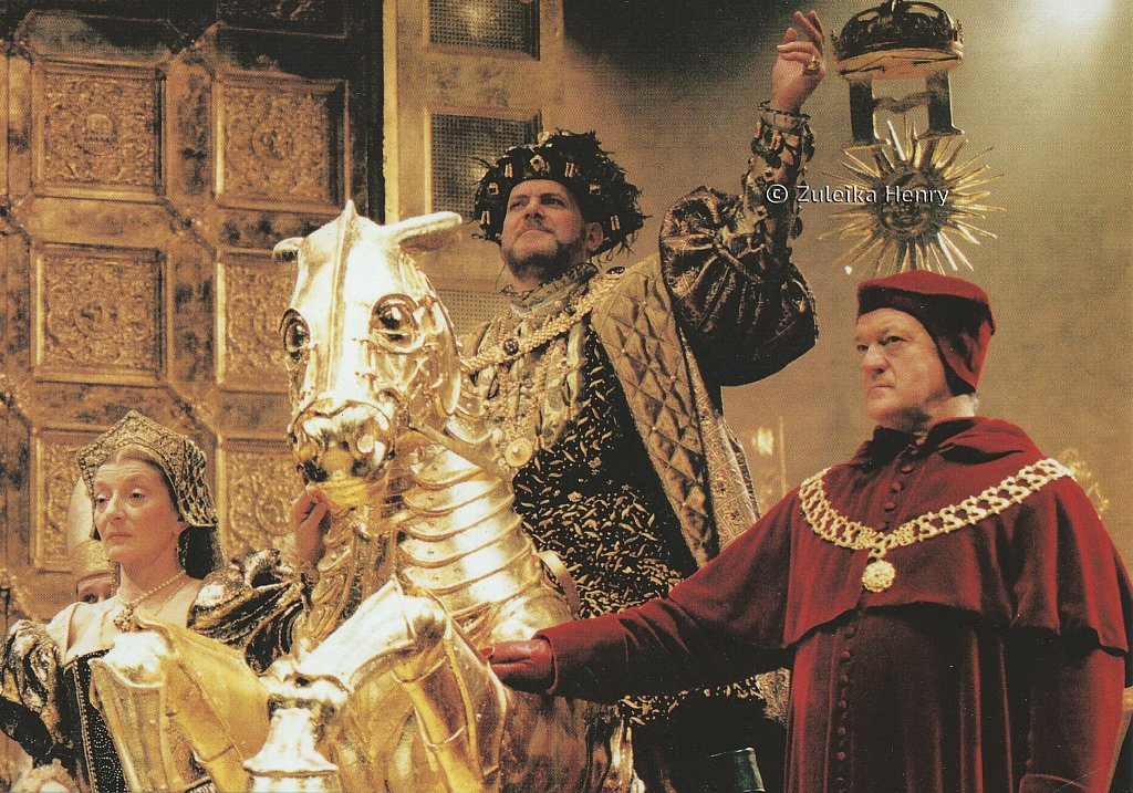Paul Jesson as Henry VIII Jane Lapotaire as Queen Katherine and Ian Hogg as Cardinal Wolsey 'King Henry VIII' 1996