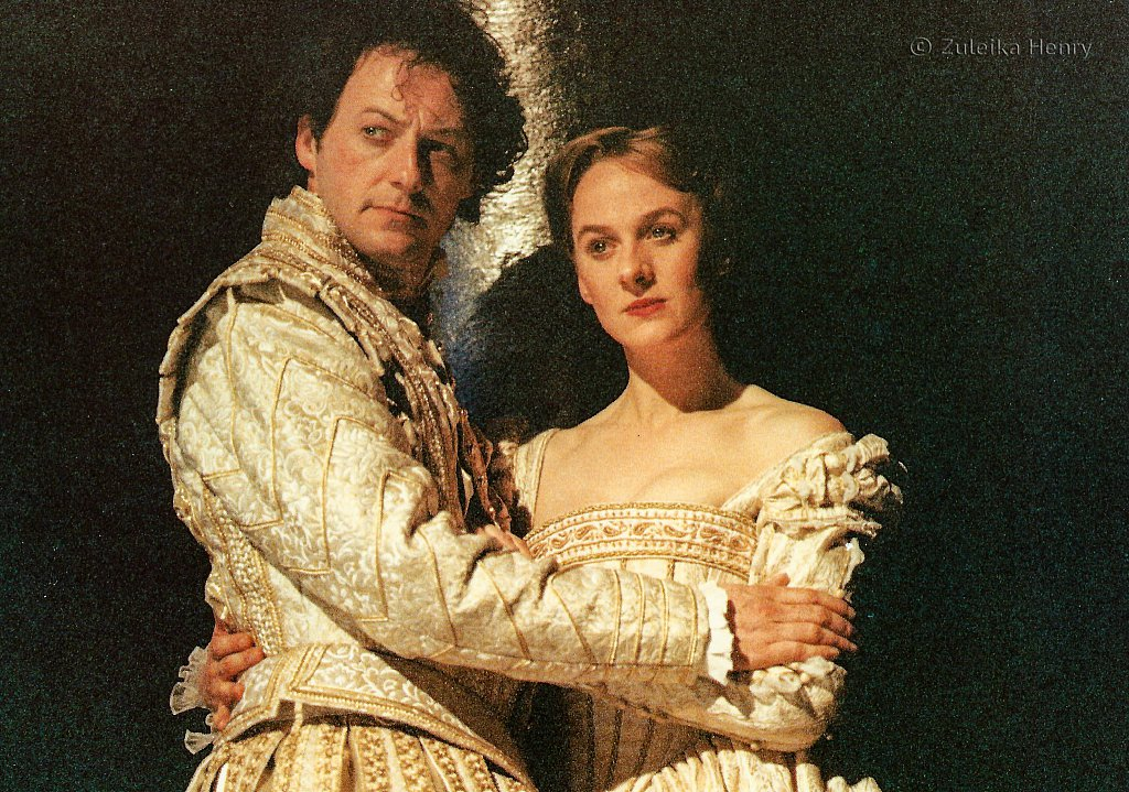 Niamh Cusack as Rosalind and Liam Cunningham as Orlando 'As You Like It' 1996
