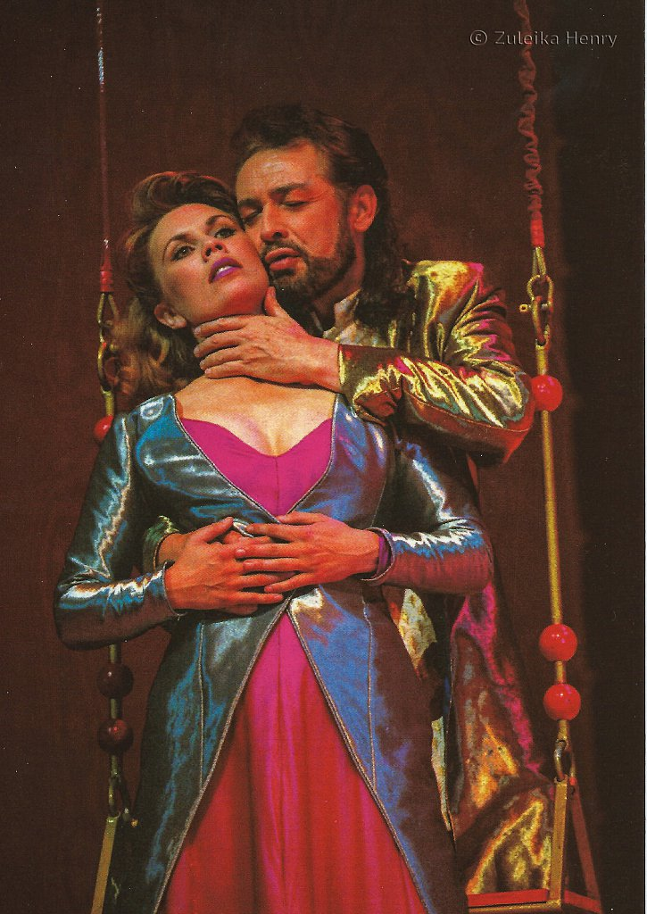 Amanda Harris as Hyppoyta/Titania and Leigh Lawson as Theseus/Oberon in 'A Midsummer Night's Dream' 1996/7