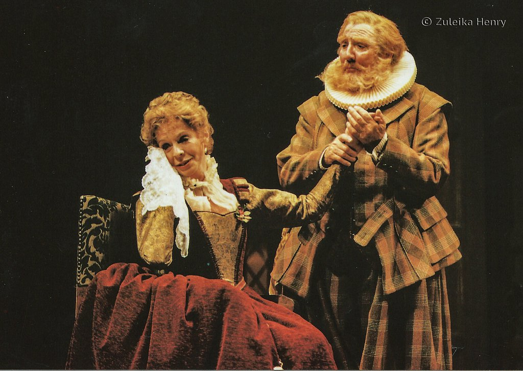 Susannah York as Alice Ford and Leslie Phillips as Falstaff '''The Merry Wives of Windsor' 1996