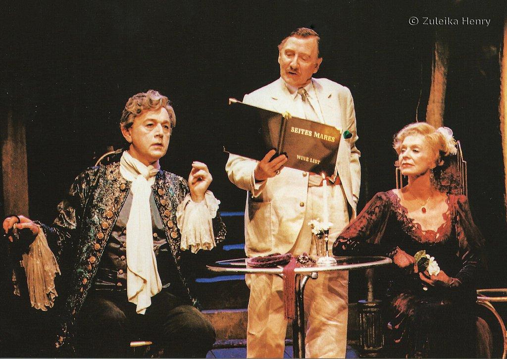 Peter Egan as Casanova Leslie Phillips as Gulman and Susannah York as Marguerite Gautier 'Camino Real' 1997