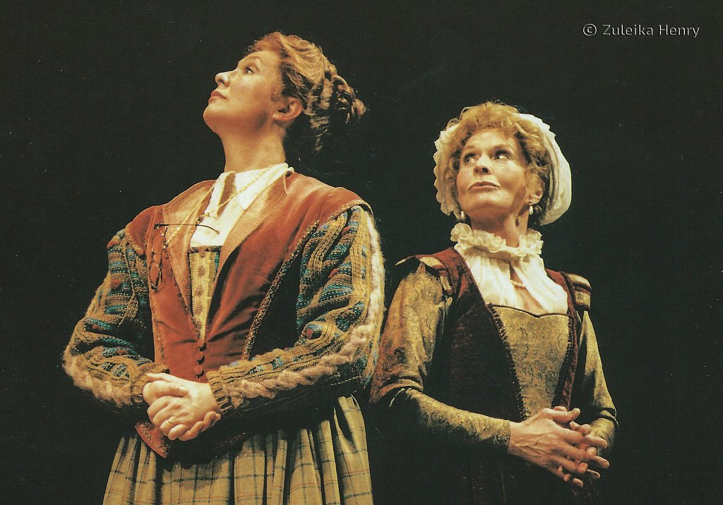 Joanna McCallum as Meg Page and Susannah York as Alice Ford 'The Merry Wives of Windsor' 1996