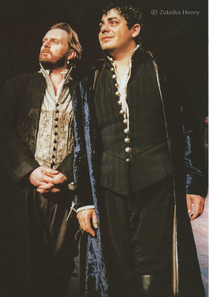 Robert Glenister as Lorenzo and Darrell D'Silva as Balthazar 'The Spanish Tragedy' 1997