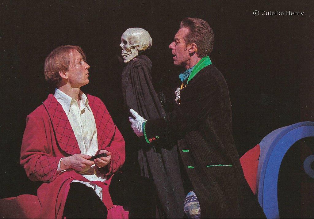 Scott Handy as Orsino Stephen Boxer as Feste 'Twelfth Night' 1997