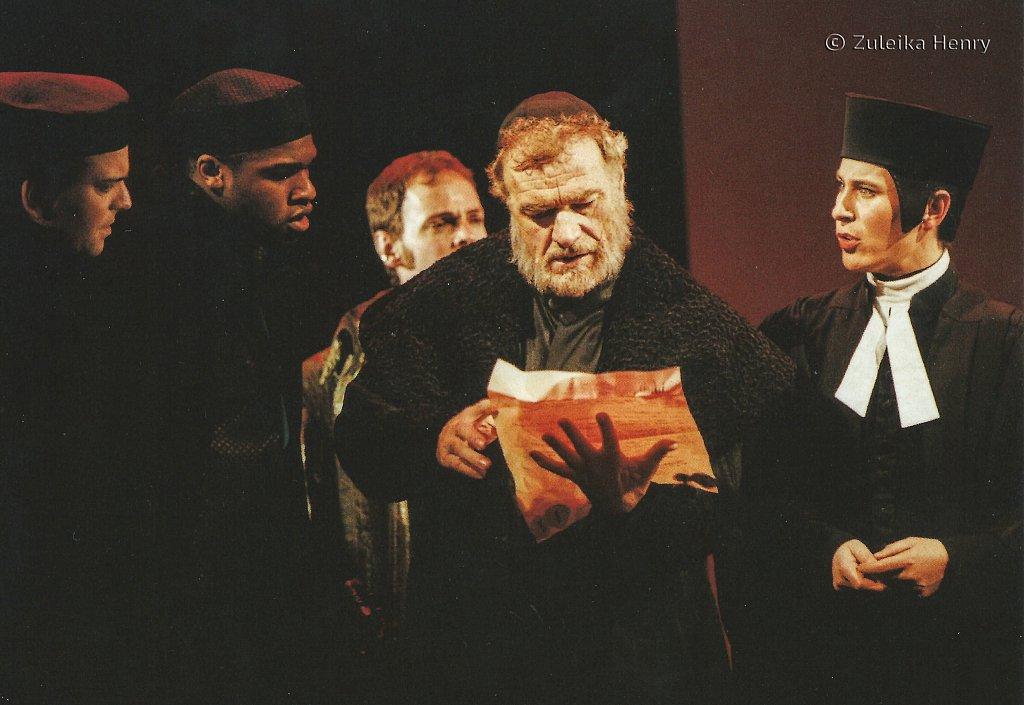 Philip Voss as Shylock Helen Schlesinger as Portia  'Merchant of Venice' 1997