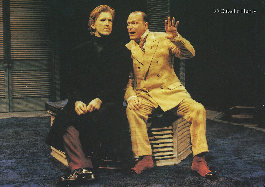 Tom Goodman-Hill as Valentine and Colin McCormack as Duke of Milan 'The Two Gentlemen of Verona' 1998