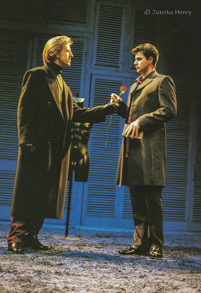 Tom Goodman-Hill as Valentine and Dominic Rowan as Proteus 'The Two Gentlemen of Verona' 1998